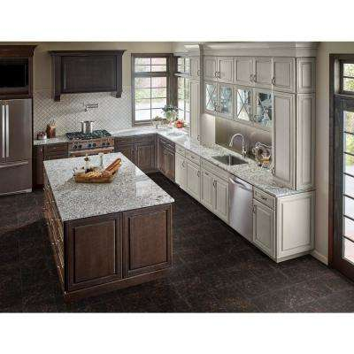 Victorian Brown 12 in. x 12 in. Polished Granite Floor and Wall Tile (10 sq. ft. / case)