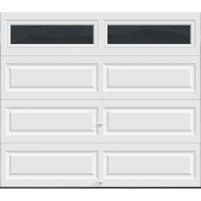Premium Series Insulated Long Panel Garage Door with Long Windows