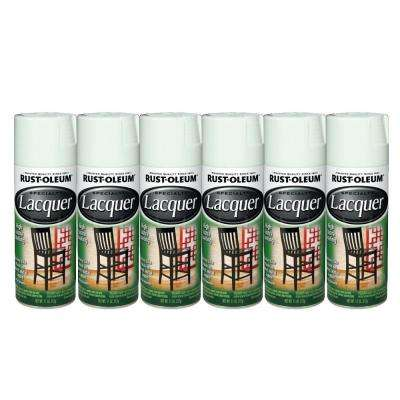 Specialty 11 oz. Gloss White Lacquer Spray Paint (6-Pack)-DISCONTINUED