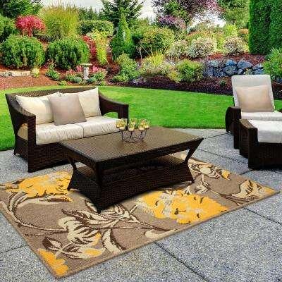 Hydrangea Chamomile 3 ft. x 2 ft. Indoor/Outdoor Area Rug