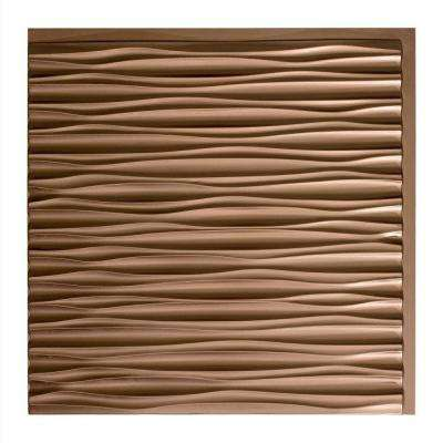 Dunes Horizontal - 2 ft. x 2 ft. Glue-up Ceiling Tile in Argent Bronze