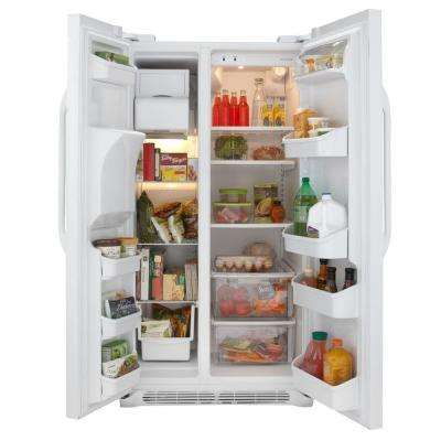 25.54 cu. ft. Side by Side Refrigerator in White