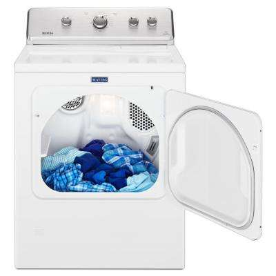 7.0 cu. ft. 240-Volt White Electric Vented Dryer with Wrinkle Control