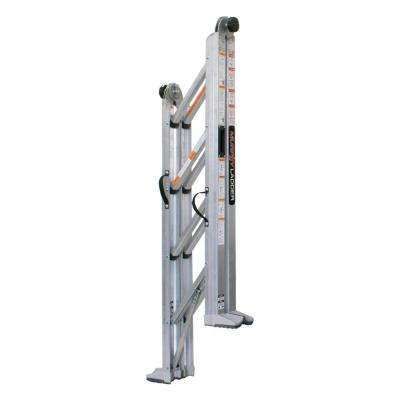 12 ft. Reach Aluminum Fully Compactable Multi-Position Ladder 375 lbs. Load Capacity Type IAA Duty Rating