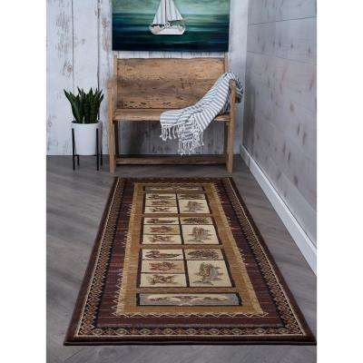 Nature Brown 3 ft. x 7 ft. Indoor Runner Rug