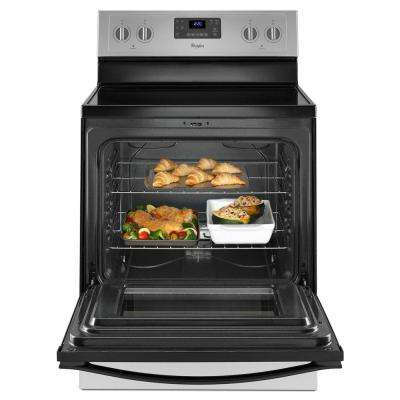 5.3 cu. ft. Electric Range with Self-Cleaning Oven in Silver with SteamClean Option