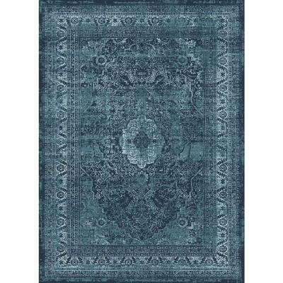 Concept Blue 5 ft. 3 in. x 7 ft. 3 in. Transitional Area Rug