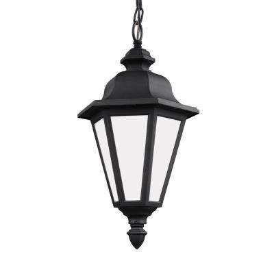 Brentwood Black 1-Light Outdoor Hanging Pendant