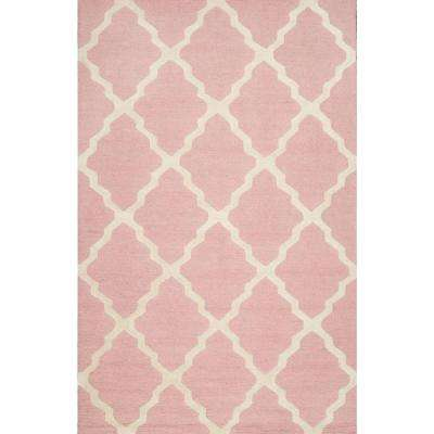 Trellis Baby Pink 7 ft. 6 in. x 9 ft. 6 in. Area Rug