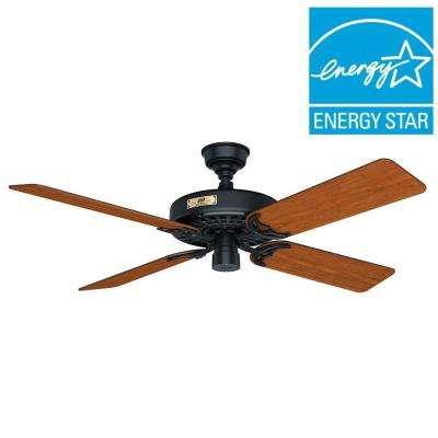 Original 52 in. Indoor/Outdoor Black Ceiling Fan