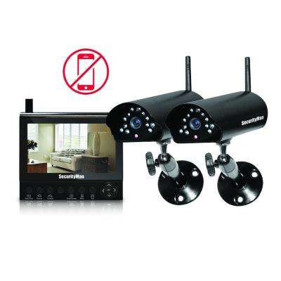 4-Channel (2) Wireless Security System with 7 in. LCD/SD DVR and Night Vision/Audio