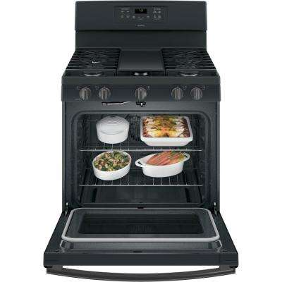Adora 5.0 cu. ft. Gas Range with Self-Cleaning Convection Oven in Black Slate, Fingerprint Resistant