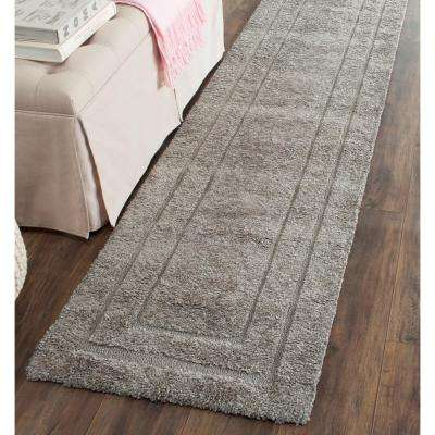 Florida Shag Gray 2 ft. x 11 ft. Runner Rug