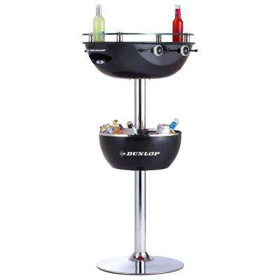 2-in-1 Black Foosball Table and Ice Bucket