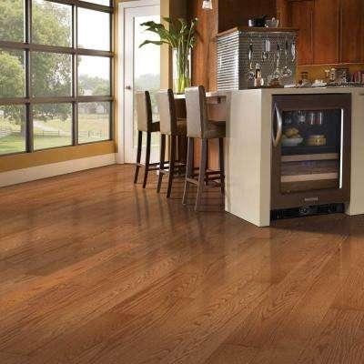 Gunstock Oak 3/8 in. Thick x 3 in. Wide x Varying Length Engineered Hardwood Flooring (23 sq. ft.)