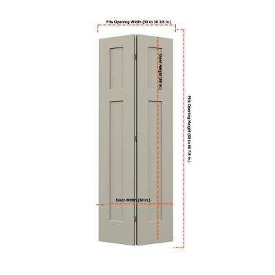 Smooth 3-Panel Craftsman Hollow Core Molded Interior Closet Bi-fold Door