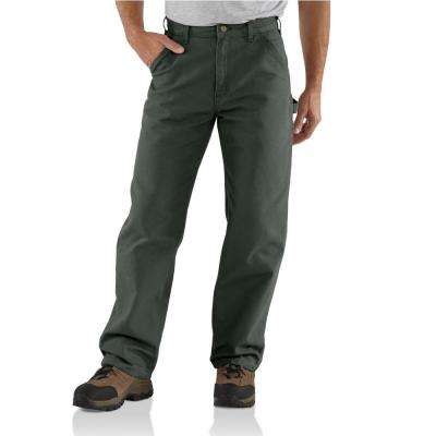 Men's Brown Cotton Washed Duck Work Dungaree Utility Pant