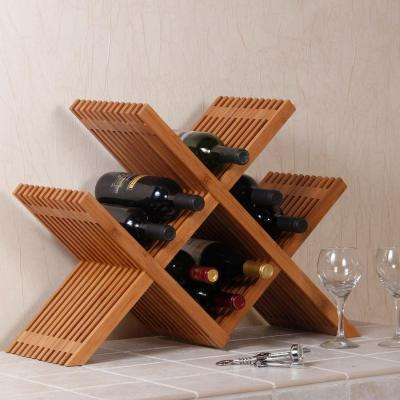 Classic Lines 24.75 in. W Wine Rack in Bamboo