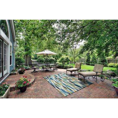 Bits and Pieces Seaglass 10 ft. x 13 ft. Indoor/Outdoor Area Rug