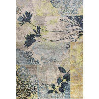 Fusion Flower Stems Multi 6 ft. 7 in. x 9 ft. 6 in. Indoor Area Rug
