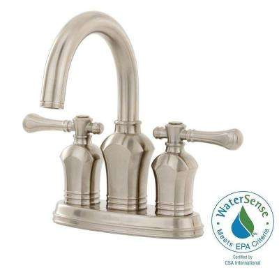 Verdanza 4 in. Centerset 2-Handle Bathroom Faucet in Brushed Nickel