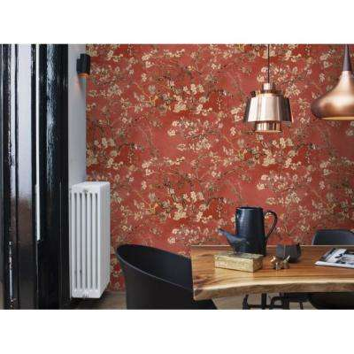 Almond Blossom Bold Floral Wallpaper Rose Paper Strippable Roll (Covers 57 sq. ft.)