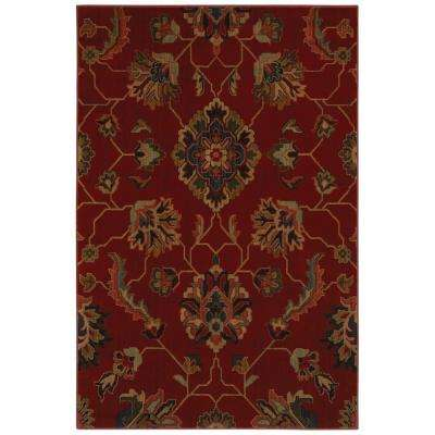 Canton Red 10 ft. x 13 ft. Area Rug