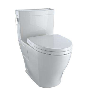Legato 1-Piece 1.28 GPF Single Flush Elongated Skirted Toilet with CeFiONtect in Colonial White