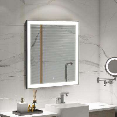 31.50 in. W x 29.50 in. H Frameless Single Bathroom Mirror with LED Lighting