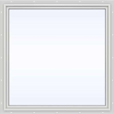 47.5 in. x 47.5 in. V-4500 Series Fixed Picture Vinyl Window in White