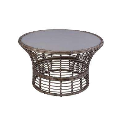 Cane Crossing All-Weather Wicker 44 in. Round Patio Chat Table