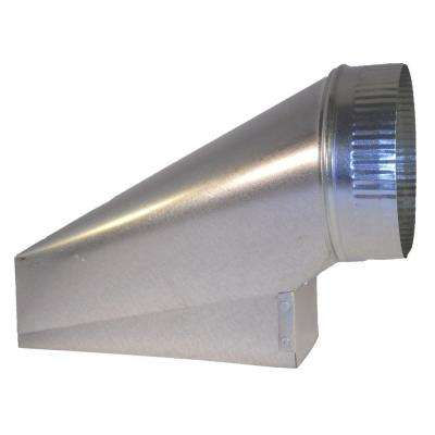 10 in. x 3.25 in. x 7 in. Galvanized Sheet Metal Range Hood End Boot Adapter