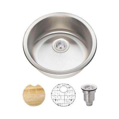 All-in-One Dualmount Stainless Steel 18-1/4 in. Single Bowl Bar Sink