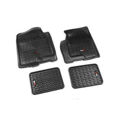 Floor Liner Set 4-Piece Black 1999-2006 GM Full-Size Pickup and SUV