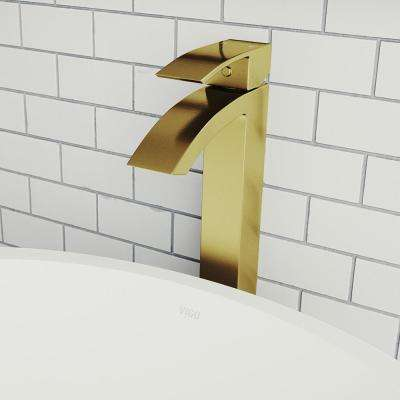 Duris Single Hole Single-Handle Vessel Bathroom Faucet in Matte Gold