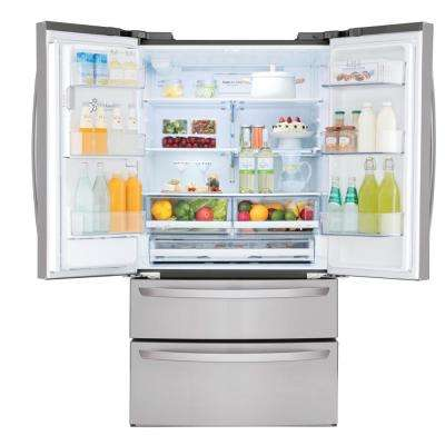 27.8 cu. ft. French Door Smart Refrigerator with Wi-Fi Enabled in Stainless Steel