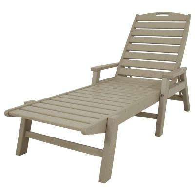 Nautical Sand Stackable Patio Chaise Lounge