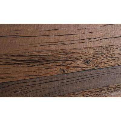 3D Holey Wood 5/16 in. x 4 in. x 24 in. Reclaimed Wood Decorative Wall Planks in Brown Color (10 sq. ft. / Case)