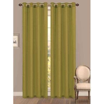 Semi-Opaque Primavera Crushed Microfiber Grommet Extra Wide Curtain Panel