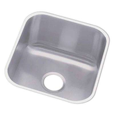 Undermount Stainless Steel 17 in. 0-Hole Single Bowl Hospitality Sink