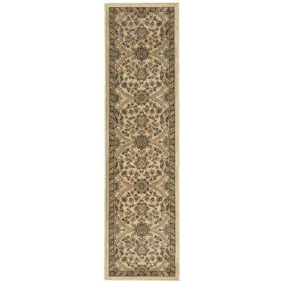 Fabris Khaki 1 ft. 11 in. x 7 ft. 6 in. Rug Runner