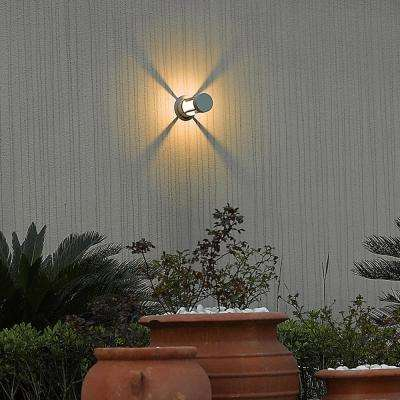 1-Light Marine Grey Outdoor Integrated LED Wall Mount Sconce