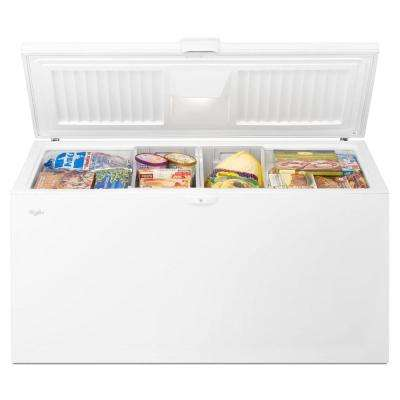 21.7 cu. ft. Chest Freezer with Extra-Large Capacity in White