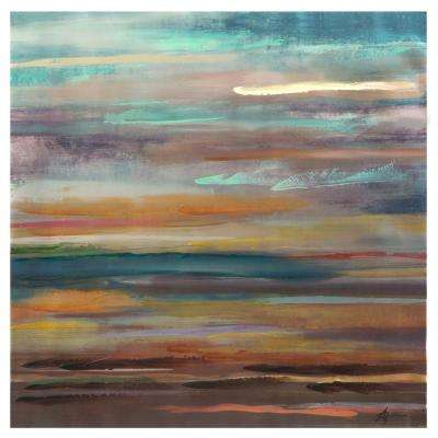 "40 in. x 40 in. ""Soulful Sunrise"" Printed Canvas Wall Art"