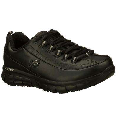 Sure Track - Trickel Women Black Leather Work Shoe