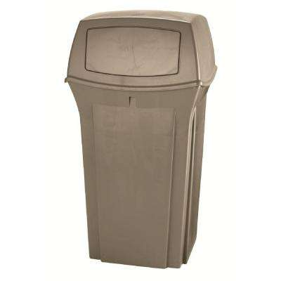 Rubbermaid Commercial Products Ranger 35 Gal. Beige 2-Door Trash Can
