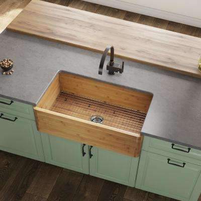 bamboo farmhouse apron kitchen sinks kitchen sinks the home rh homedepot com