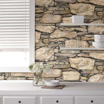 Hadrian Stone Wall Peel and Stick Wallpaper Sample