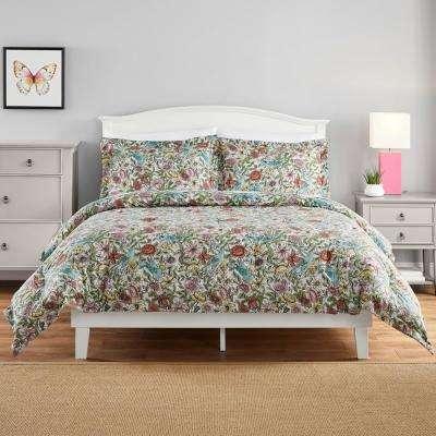 Eva Whimsy Floral Comforter Set