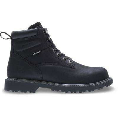 Men's Floorhand Black Full-Grain Leather Waterproof Steel Toe Boot